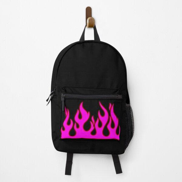 Pink hot rod flames Backpack