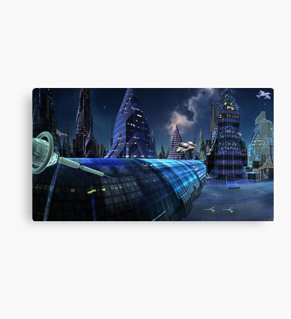 High-Speed Tube Travel Canvas Print