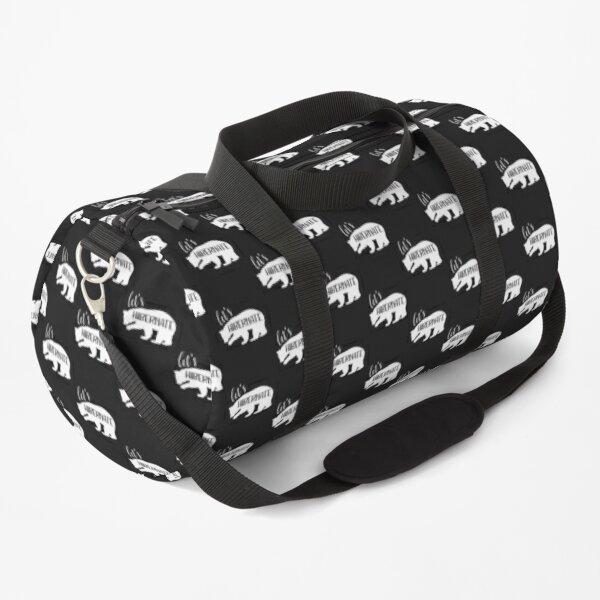 Bear Lets Hibernate Funny Animal Gift Duffle Bag