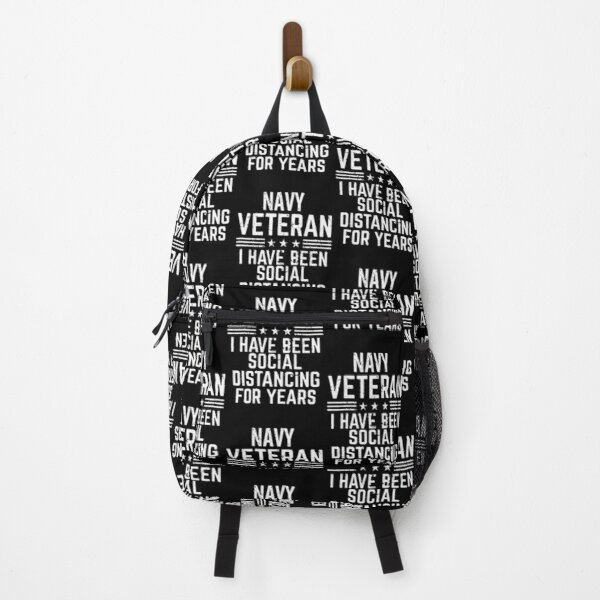 Navy Veteran Social Distancing For Years mask Backpack