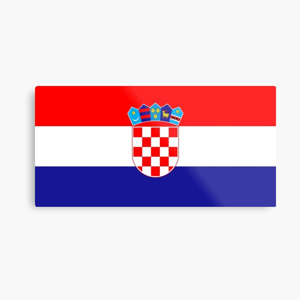Flag of Croatia Metal Print
