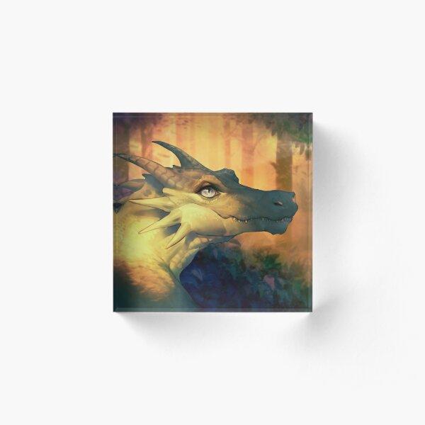 Forest dragon Acrylic Block