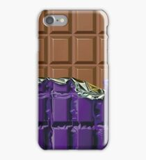 Sweet Tooth - Choclate Candy Bar in Purple Foil iPhone Case/Skin