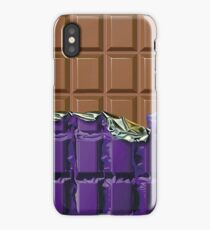 Sweet Tooth - Choclate Candy Bar in Purple Foil iPhone Case