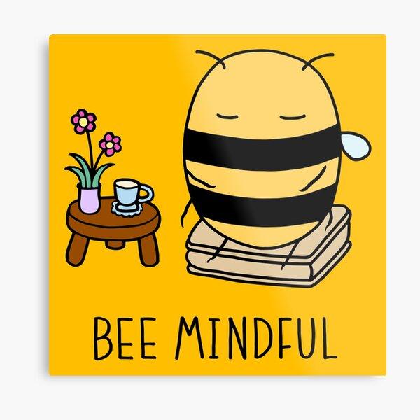 Bee Mindful - Sunshine Metal Print
