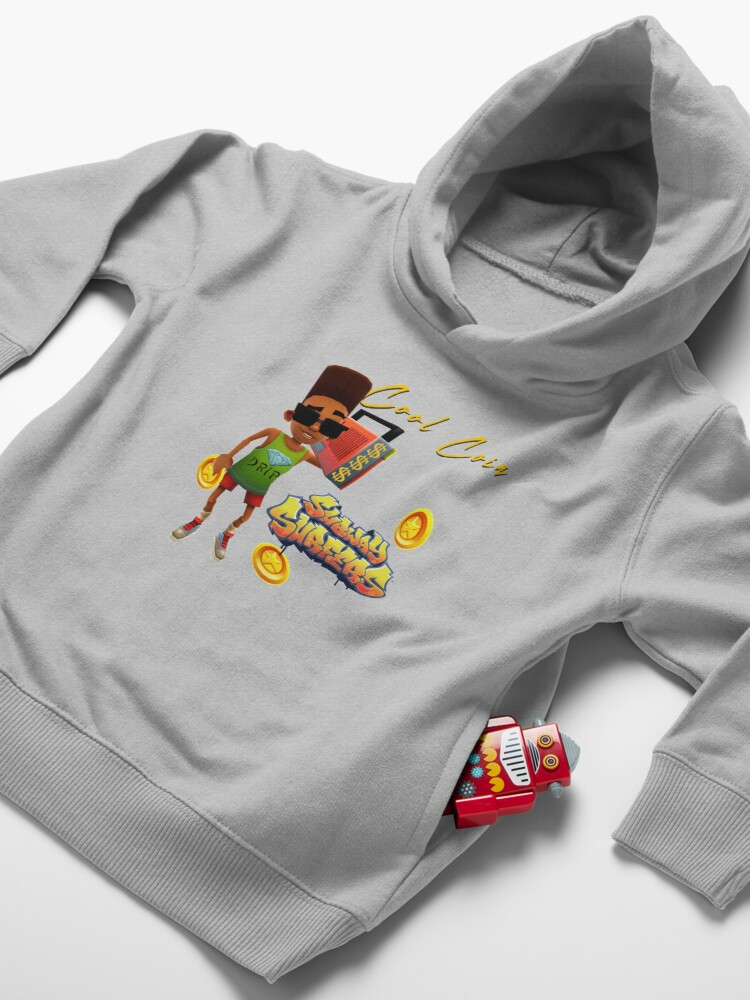 Alternate view of Subway Surfers Cool Coin Toddler Pullover Hoodie