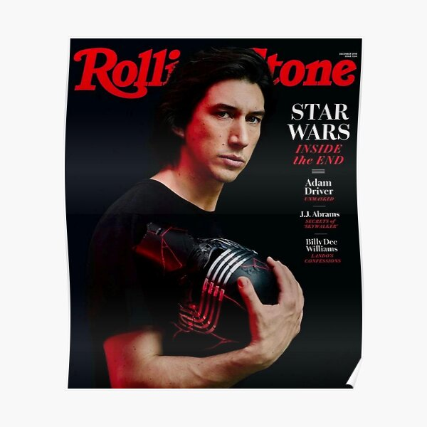 Adam driver Rolling Stones Cover  Poster