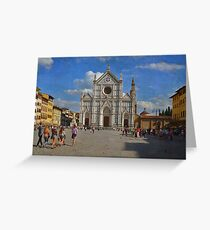 Piazza Santa Croce - Firenze Greeting Card
