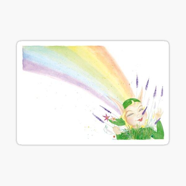 Der grüne Elf – Regenbogen Sticker