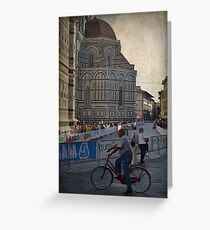 Word Cycling Championship ~ Firenze 2013 Greeting Card
