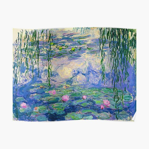 Water Lilies - Claude Monet Poster