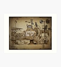 Les Tours Travel Machine Art Print