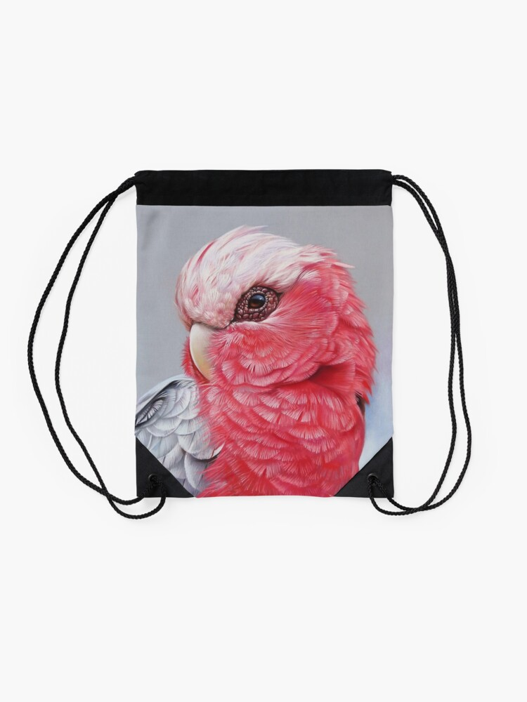 "Alternate view of ""Galah"" Drawstring Bag"