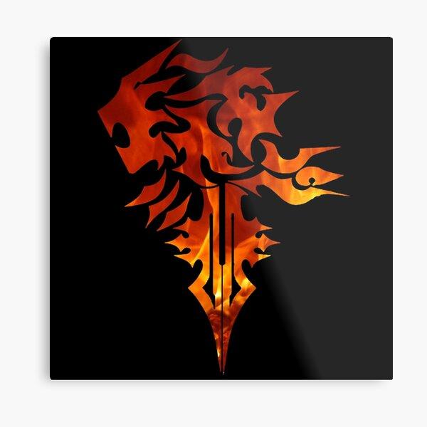 FF8 Squall Griever Logo Metal Print