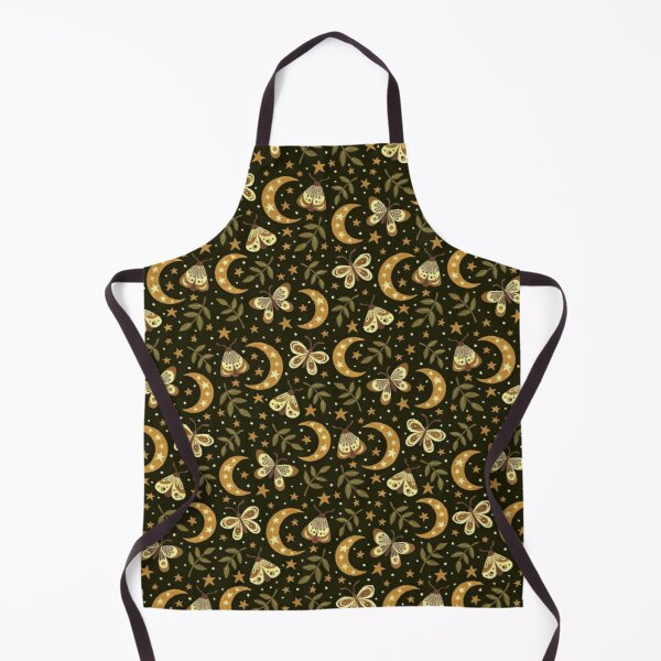 Moons and moths Apron