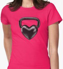 Kettlebell heart Womens Fitted T-Shirt