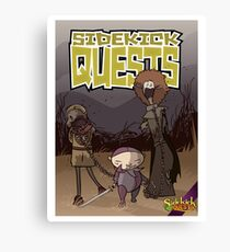 Sidekick Quests Walking Dead Print Canvas Print