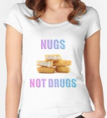 NUGS NOT DRUGS Women's Fitted Scoop T-Shirt