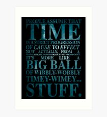 Dr Who Quote - David Tennant Art Print