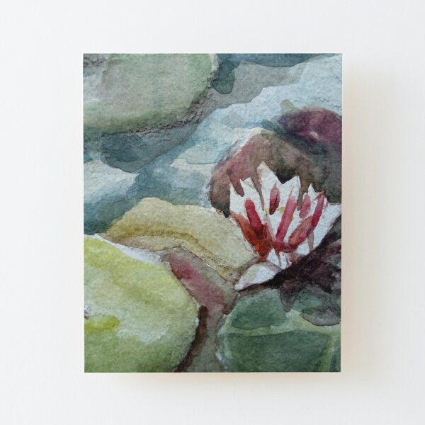 Pink waterlily Wood Mounted Print