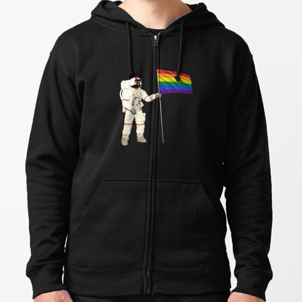Moon Landing Pride Zipped Hoodie