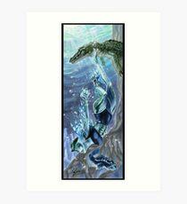 Monster Mistress Swamp Creature Art Print