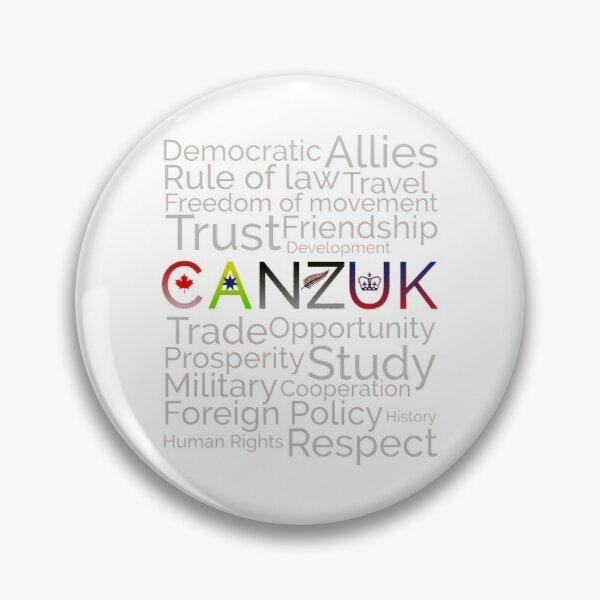 CANZUK: Affiliated Words With Symbols Pin