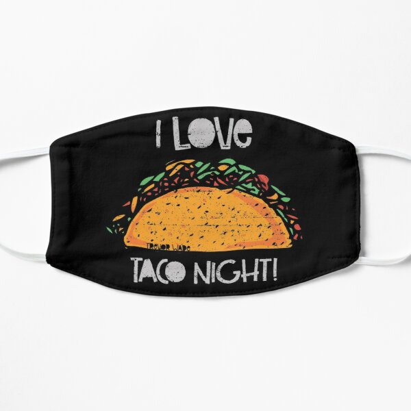 I Love Taco Night Dark Tee Flat Mask