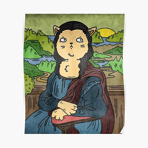 Mona Cat Lisa Poster