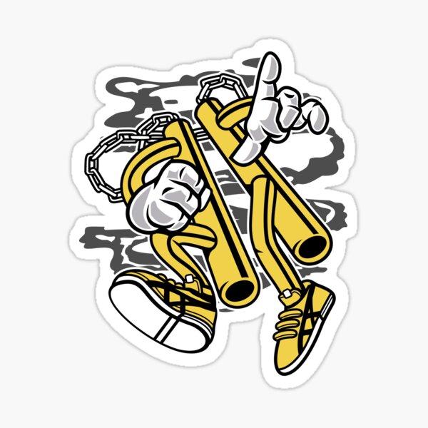 Nunchaku Cartoon T-shirt Sticker
