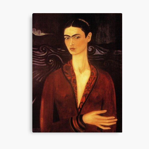 Frida Kahlo Velvet Dress Self Portrait  Canvas Print