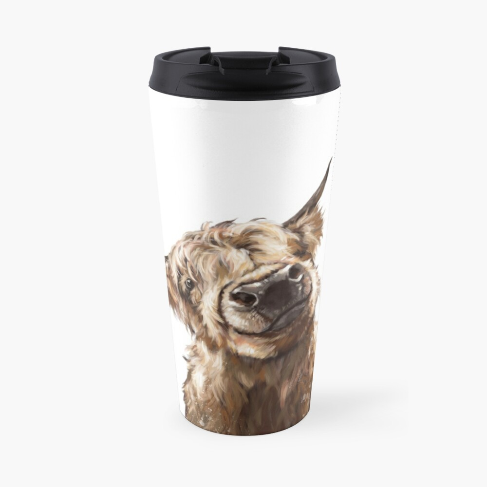 Highland Cow Travel Mug