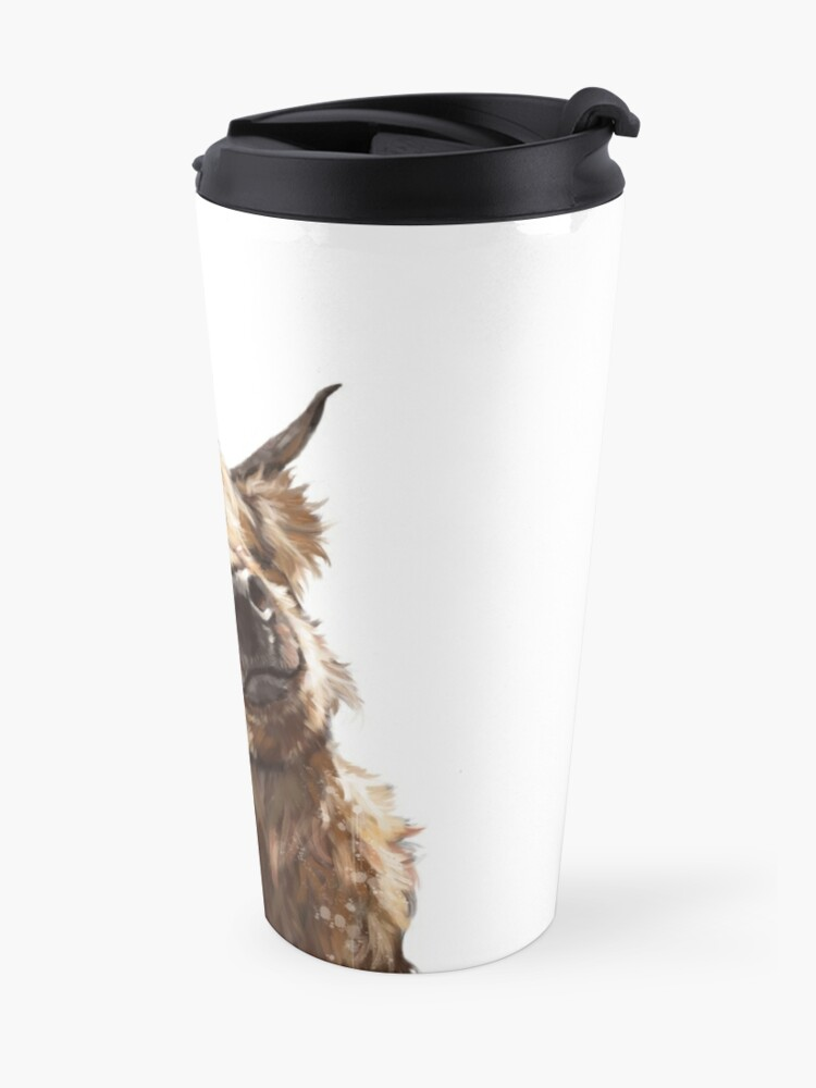 Alternate view of Highland Cow Travel Mug