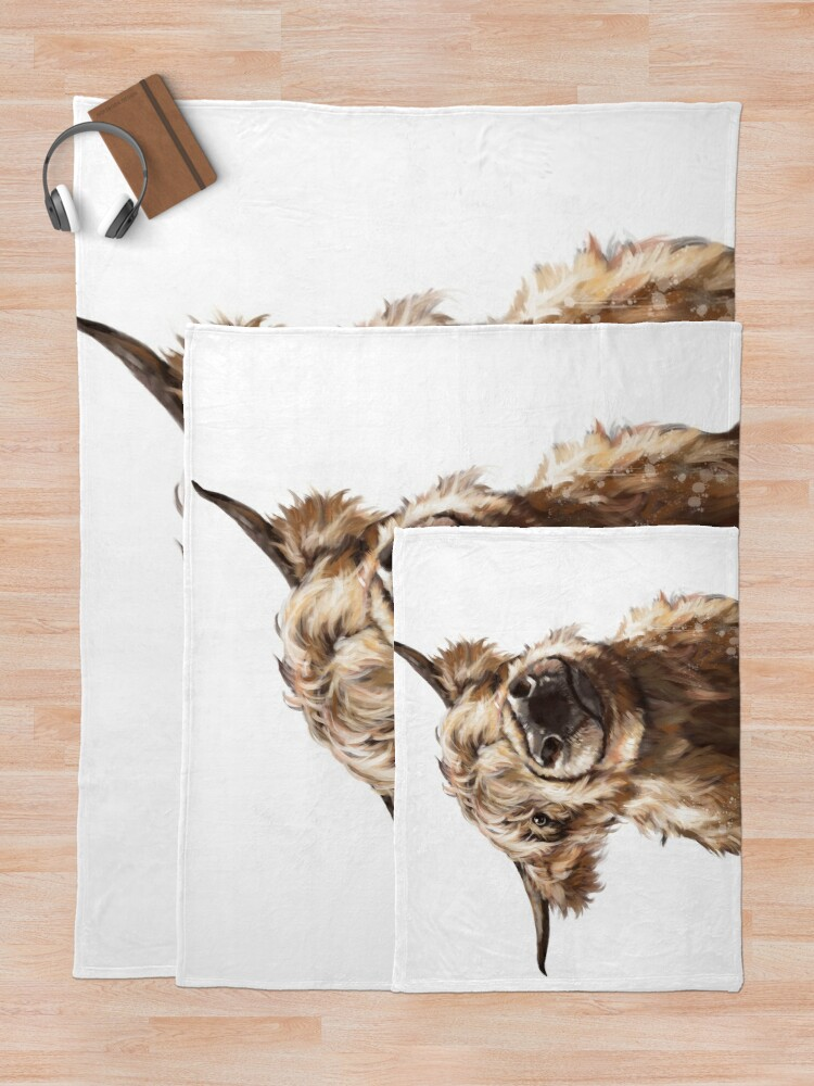 Alternate view of Highland Cow Throw Blanket