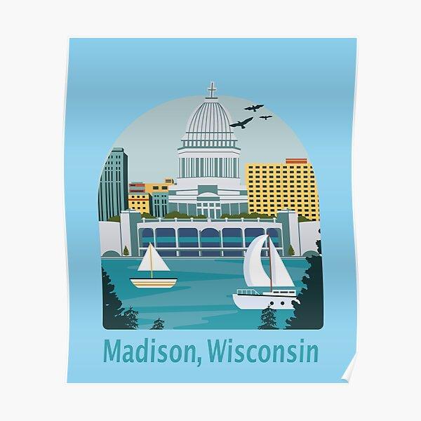 Madison, Wisconsin Skyline Design Poster
