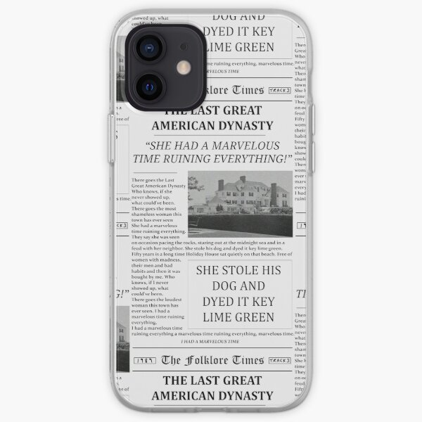 The Last Great American Dynasty Newspaper iPhone Soft Case
