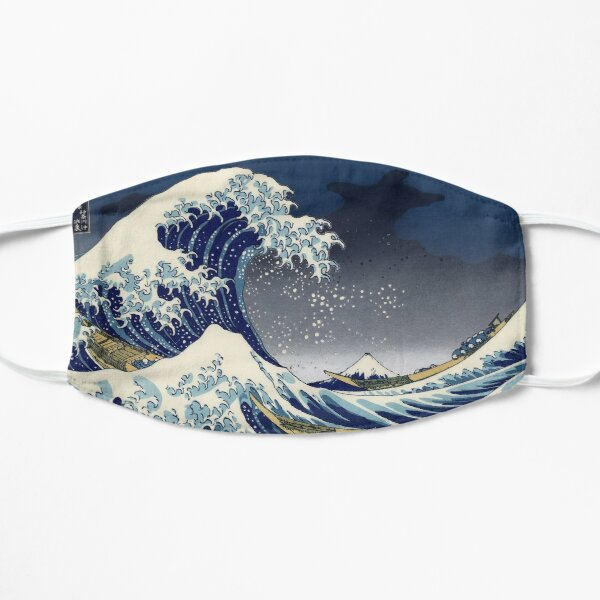 Great Wave: Kanagawa Night Flat Mask