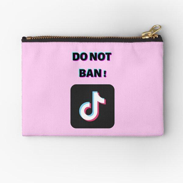 ❤️ tiktok tik tok 3D text Do not ban Zipper Pouch