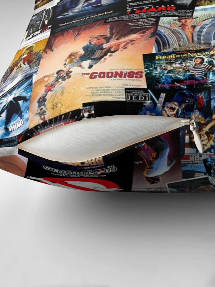 Alternate view of 1980s Movie Posters Throw Pillow
