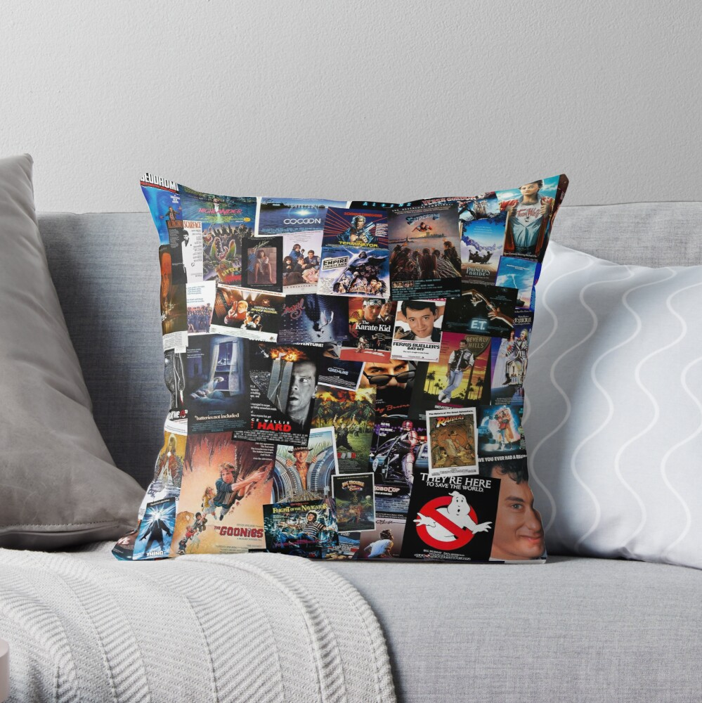 1980s Movie Posters Throw Pillow