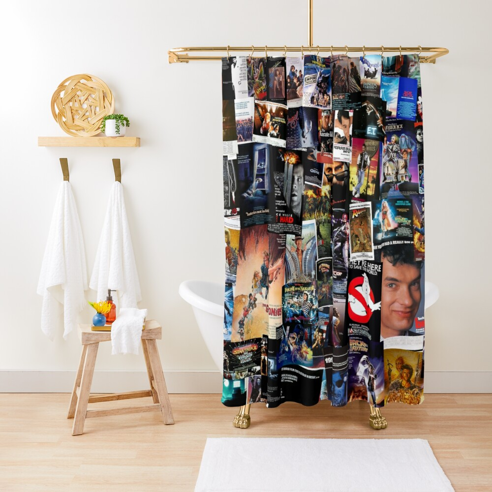 1980s Movie Posters Shower Curtain