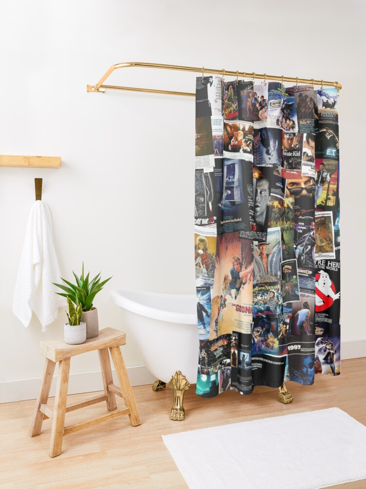 Alternate view of 1980s Movie Posters Shower Curtain