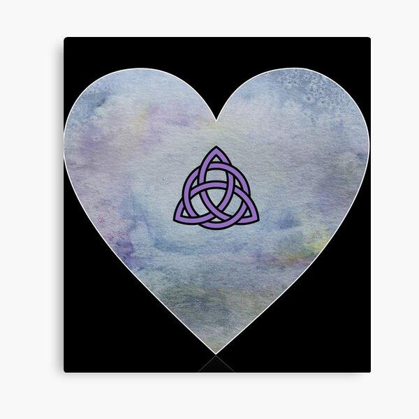 Triquetra Celtic Knot Heart Lienzo