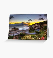 Ventnor Town Sunset Greeting Card