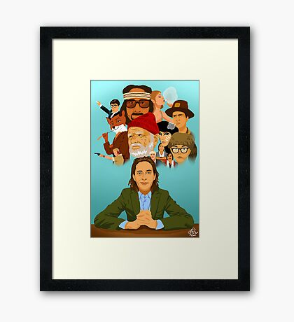 The World of Wes Anderson Framed Print