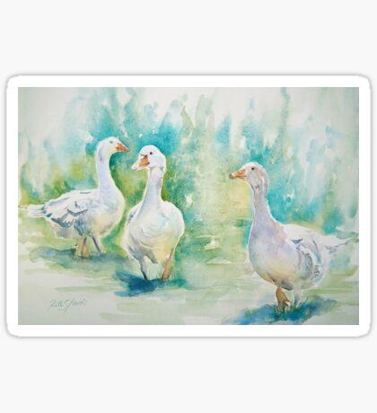 Three Geese Sticker