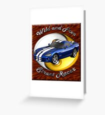 Dodge Viper Wild And Free Greeting Card