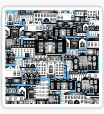 SPLASHYARTYSTORY - ALL ABOUT BUILDINGS blue Sticker