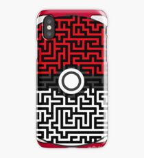 Pokeball Maze iPhone Case