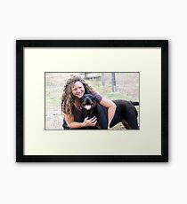 2 of my favourite ladies :) Framed Print